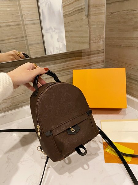 top popular Backpack Casual Mini Backpacks Women Designers Handle Handbags Leather Handbag Fashion 2021 Small Clutch Totes Shoulder Bags Crossbody Purse High Quality Zipper 2021