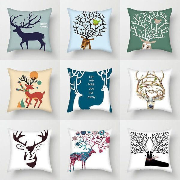 best selling New cartoon pillow moose printing super soft sofa cushion cover household products enterprises can