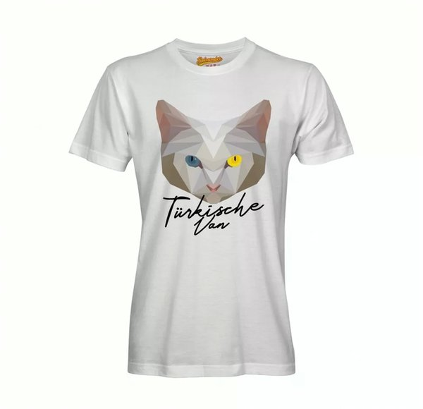 Turkish Van T-Shirt Polygon Cat by siviwonder