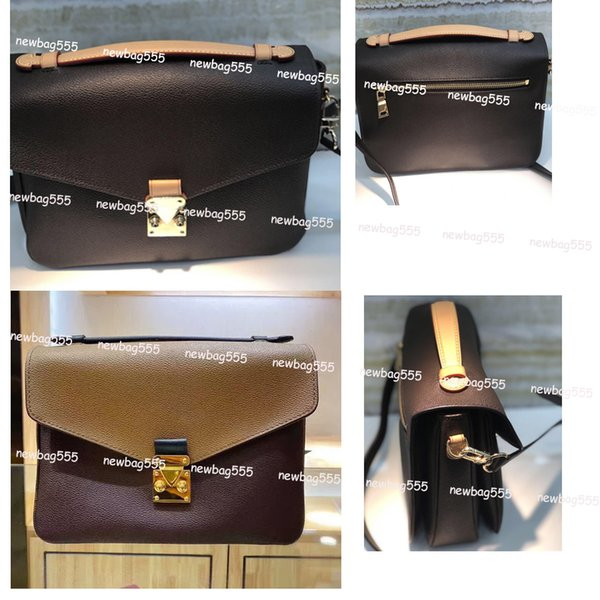 top popular Women designer handbag messenger bag oxidizing leather POCHETTE metis elegant shoulder bags crossbody tote shopping purse clutches 40780 all match cover closure 2021