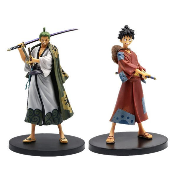 best selling One Piece Anime Figures Roronoa Zoro action figure Monkey D Luffy Figurine Wano Country Ver. Collection Model Toys Decoration R0327