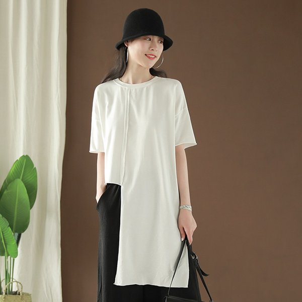 WomenS Clothing Summer 2021 Casual Tops For Women Traditional Chinese Clothing Irregular Top White Qipao Shirt Female 10061 Apparel Ethnic Clothing DIY Clothing Mens Clothing Womens Clothing