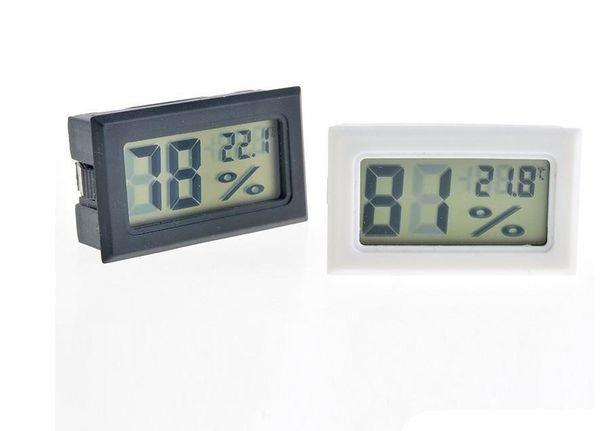 top popular Black White Mini Digital LCD Environment Thermometer Hygrometer Humidity Temperature Meter In room refrigerator icebox 2021