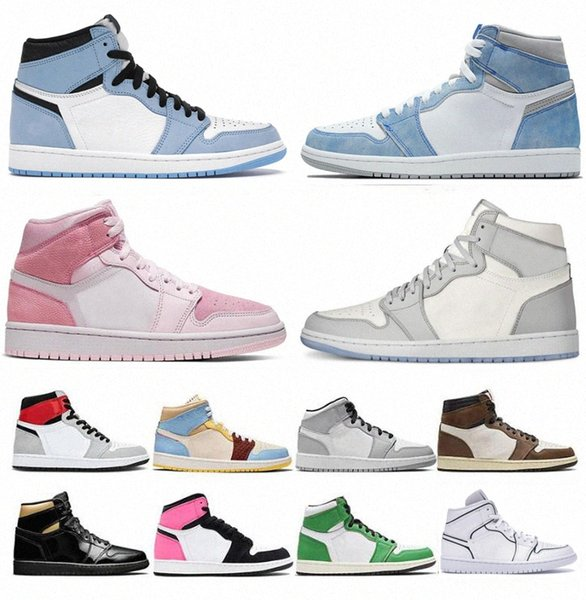 top popular 2021 Basketball Shoes 1 men women 1s High OG jumpman University Blue Valentine's Day Hyper Royal Mid Light Smoke Grey Chicago Dark Moc 22Q4# 2021