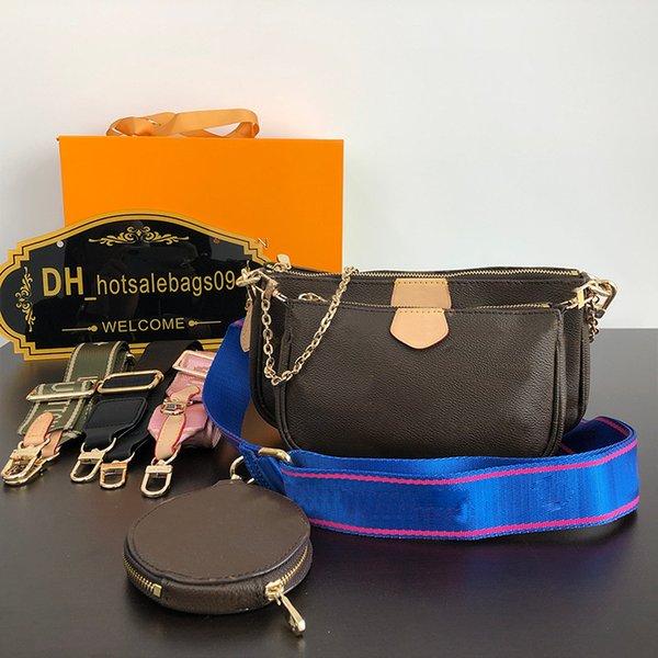 top popular 2021 handbag High Quanlity bags women handbags Paris Sale 3 piece set bag purses lady tote Coin Purse three item 2021