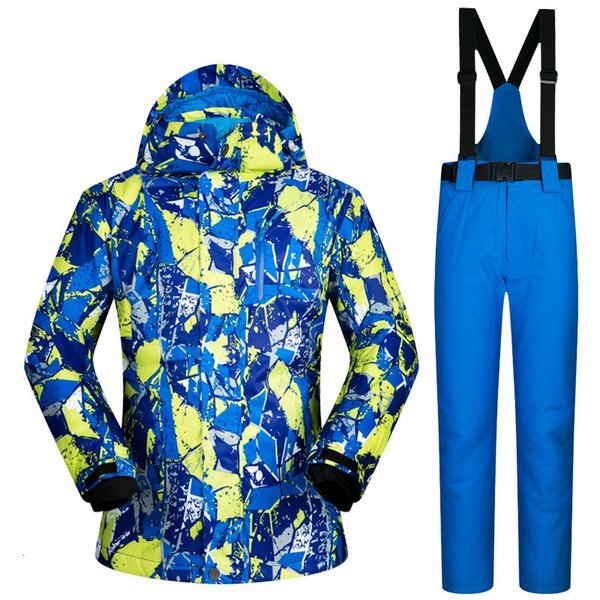 top popular Winter Outdoor New Men Ski Suit Super Warm Clothing Skiing Snowboard Jacket+Pants Suit Windproof Waterproof Winter Wear 2021