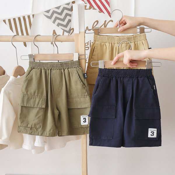 best selling Children's Summer Shorts Small and Medium Sized Boys' Capris 2021 New Baby Loose Thin Casual Tooling Beach Pants
