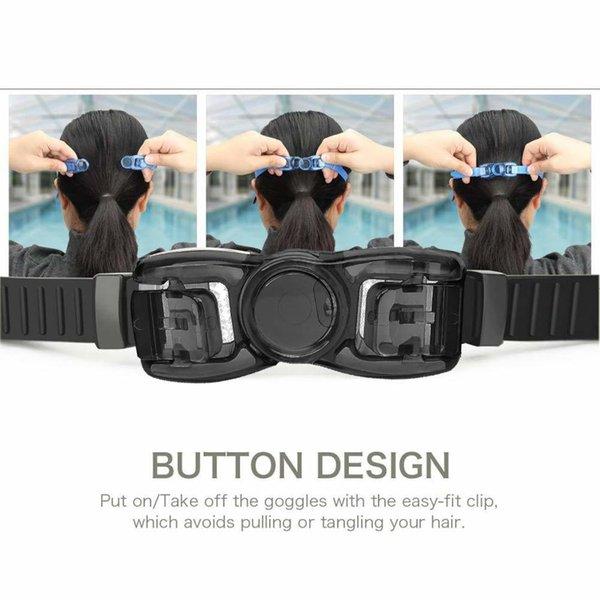 best selling Men Swimming Glasses Anti fog UV Silicone Waterproof Swim Caps Long Hair Eyewear Swim Goggles Case Nose Earplug Diving Equipment