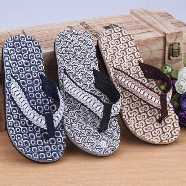 2020 Slippers Men Home Summer Comfortable Massage Flip Flops Shoes Sandals Male Slipper Indoor & Outdoor Flip Flops a60G#