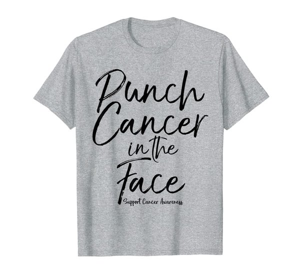 Punch Cancer in the Face Support Cancer Awareness Shirt