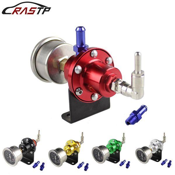 top popular Oil Pressure Regulator RASTP-High Quality Adjustable Aluminum Fuel Pressure Regulator With Gauge Kit For All Car RS-FRG002 2021
