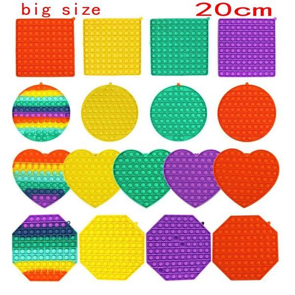 best selling TikTok BIG SIZE Fidget Toys Pops It Square Antistress Toy Push Bubble Figet Sensory Squishy Jouet Pour Autiste For Adult Children Gift Kids Gift