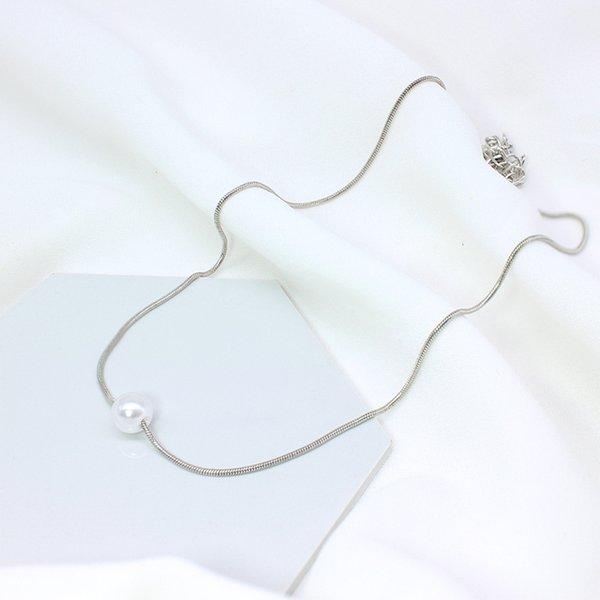 necklace pea silver