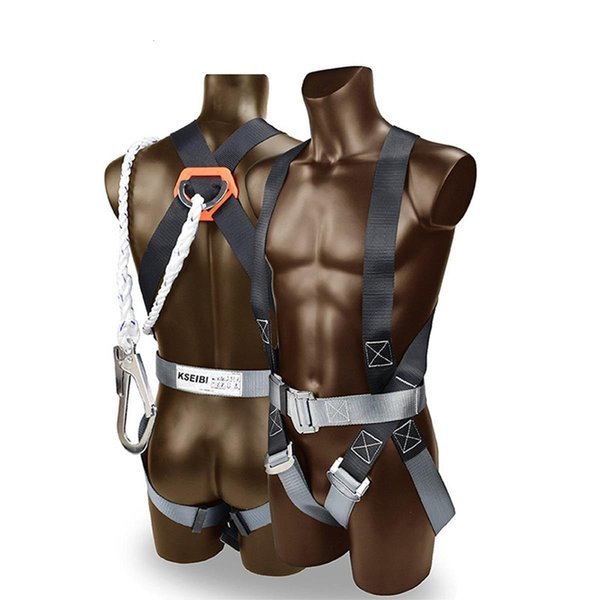 best selling 100kg Load Full Body Harness Belt Safety Fall Protection Kit with Shock-absorbing Rope for Outdoor Rock Climbing Shoulder Strap