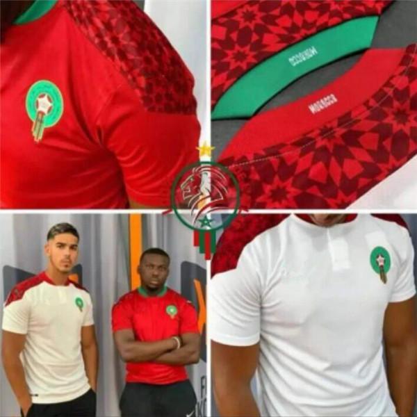 top popular 2021 Morocco soccer jerseys home away 20 21 maillot de foot Ziyech Boufal FAJR Munir Ait Bennasser Amrabat football shirts 2021
