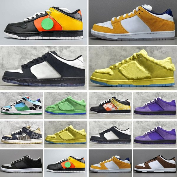2021 DUNK Shoes SB Chunky Dunky Sneakers Low Skateboard Running Paris Brazil Syracuse White Kentucky Casual Sports Trainers
