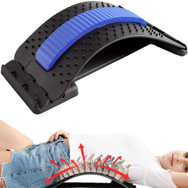 best selling Adjustable traction stretcher with magnetic acupoint massage can immediately relieve back pain. Scoliosis, lumbar or