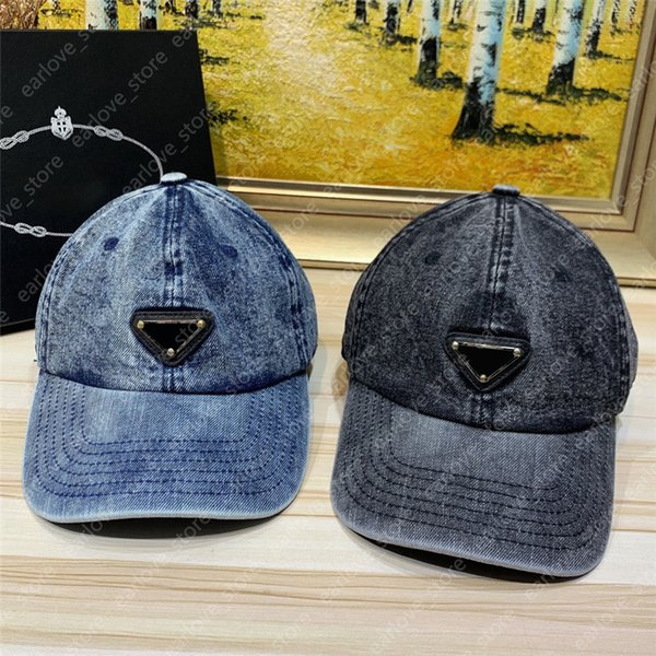 Baseball Cap Designers Caps Hats Mens Womens Luxurys Casquette Fashion Denim Washed Men Hats Mens Fitted Baseball Caps 2021042302XV