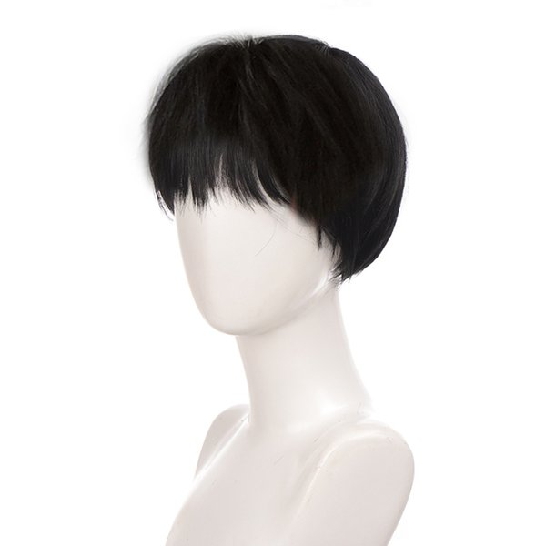 ynthetic None-Lace Wigs LUPU Black Blonde Short Synthetic Hair Wigs Handsome Boy Cosplay Wig Natural Fake False Hair High Temperature Fi...