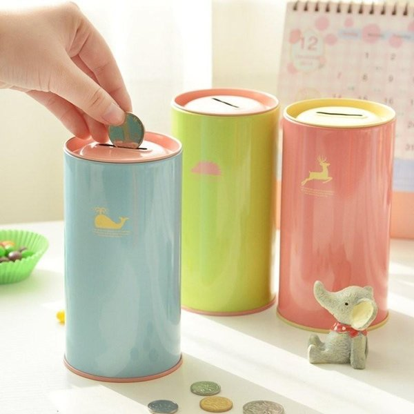 best selling Animal candy color piggy bank metal piggy bank cute sundries cans storage cans gift cans home decoration money box