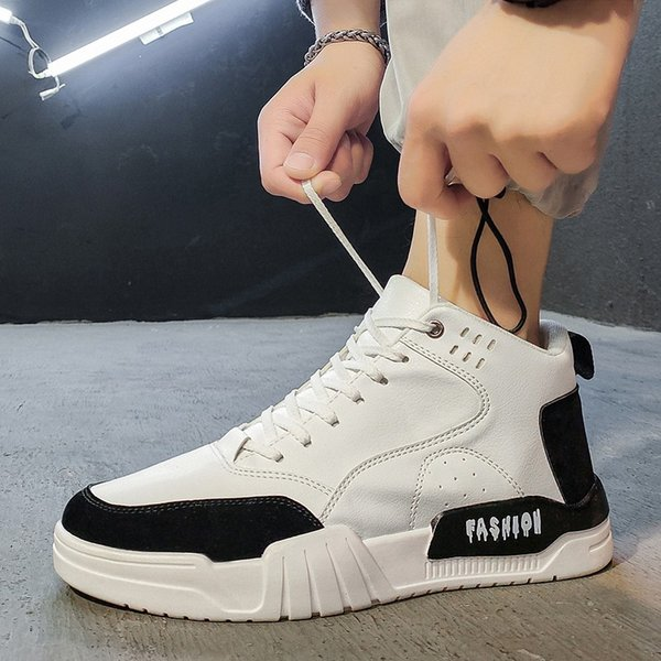 High Top Spring Men Sneakers New Breathable Lace Up Men Mesh Shoes Fashion Casual No-slip Men Vulcanize Shoes Tenis Masculino