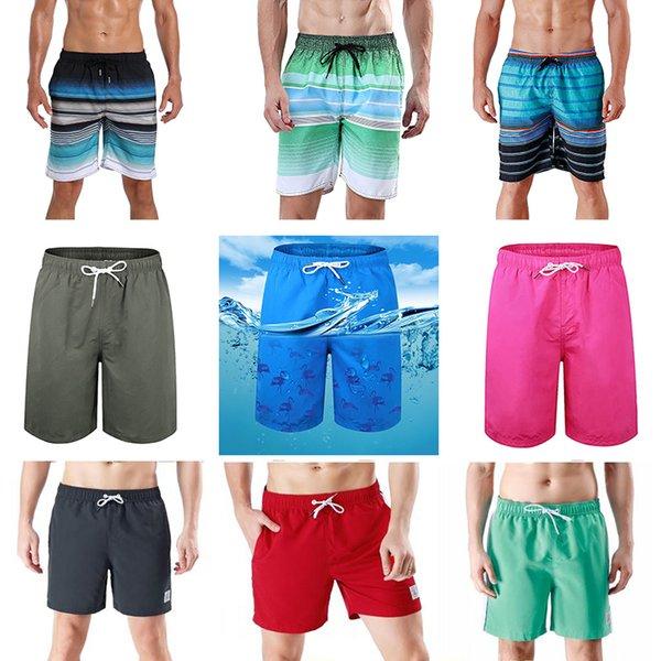 best selling Mens Shorts Beach Swim Trunks Swimwear with Mesh Lining Pockets 4-way Spandex Boardshorts Beachwear Clearance