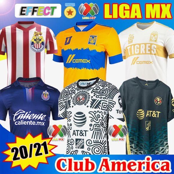 top popular 20 21 22 Club America Away Soccer Jerseys 2021 2122 Home UNAM Third LEON UANL Tigres Chivas Guadalajara 115 year kit Camisas de Futebol Football Shirts 2021