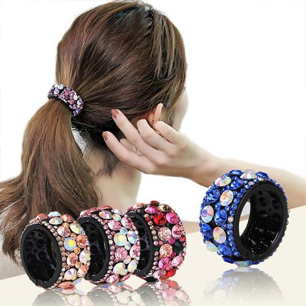 New Colorful Shiny Crystal Rhinestone Hair Claws Hair Accessories For Women Grab Clips Hairpins Hair Clips Ponytail