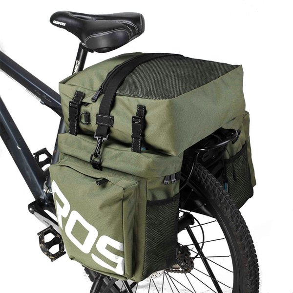 top popular ROSWHEEL Bicycle Carrier Bag Rear Rack Trunk 35L Bike Luggage Back Seat Pannier 2 Colors 3 Bags Cycling Saddle Storage 14892 2021
