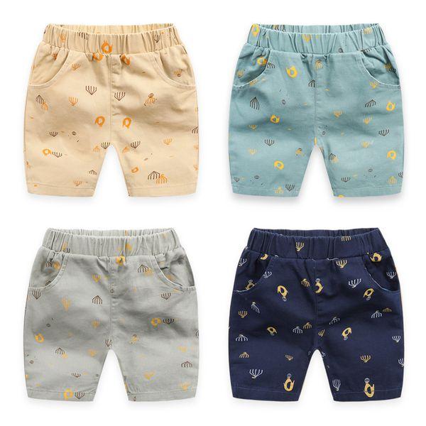 top popular Boys' Capris 2021 Summer New Children's Wear Korean Version Manyin Animal Shorts Baby Beach Pants 2021