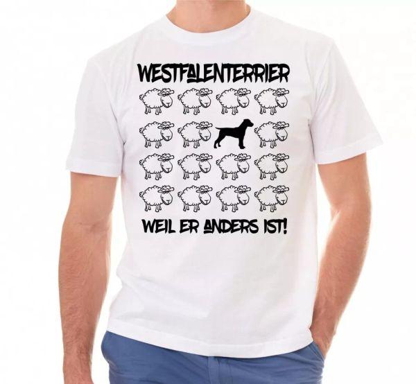 Westphalia Terrier Unisex T-Shirt Black Sheep Men Dog Dog Motif Terrier