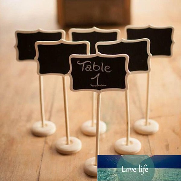 top popular 1pcsClassic Mini Blackboard Clip On Message Wooden Small Chalkboard For Wedding Party Buffets Table 2021