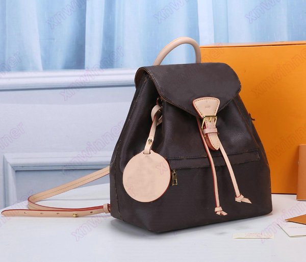 top popular Montsouris Backpack PM BB Designer Womens Mini Classic Bag Vintage Leather Handbag Designers Luxurys Cross Body Purse Wallets M45501 M45516 2021