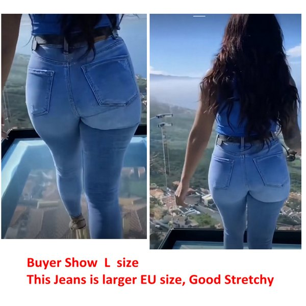 2011Womens Stretchy High Waisted Jeans Big Butt Hips Jean Denim Pants Pull Up Elastic er Good Stretch Elastic Jean ouc292a