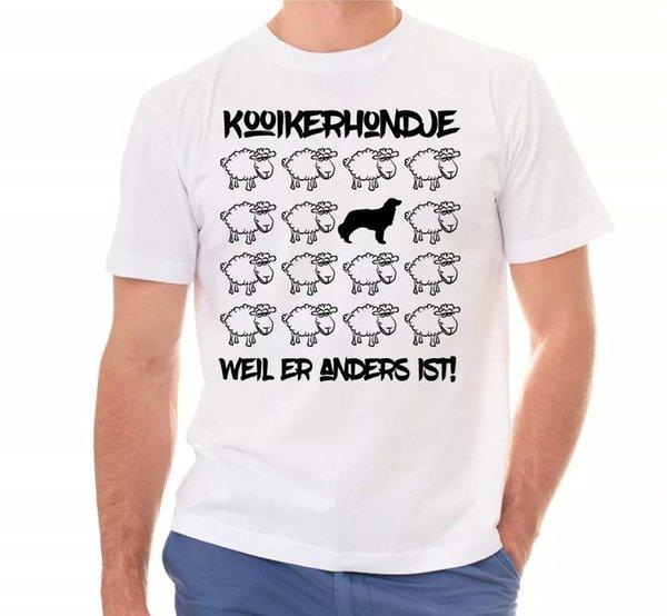 Kooikerhondje Unisex T-Shirt Black Sheep Men Dog Dogs Motif Kooiker