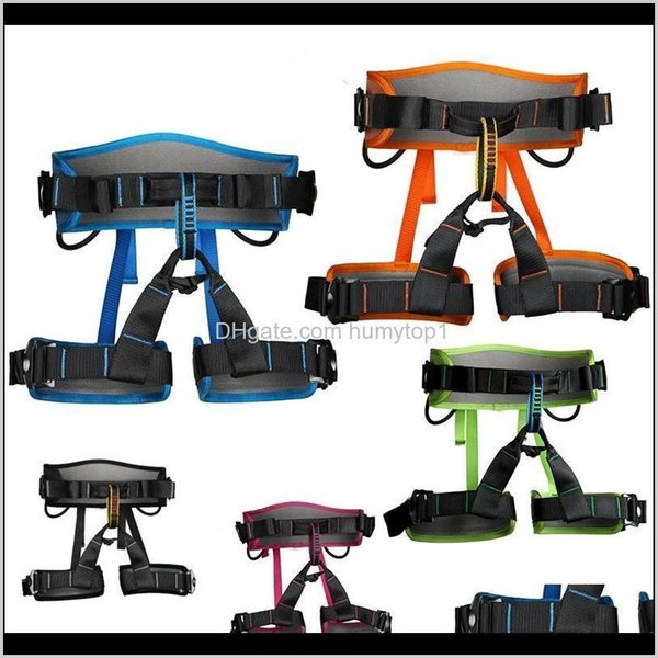 top popular Harnesses Camping Hiking Sports & Outdoors Delivery 2021 Rock Climbing Harness Aerial Work Belt Speed Drop Outdoor Protect Safety Wear Resist 2021