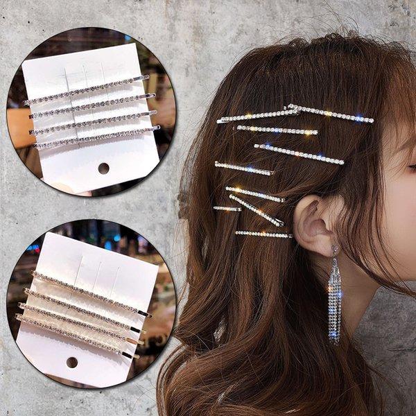 4pcs/set Rhinestones Hair Clip For Women Hair Accessories Crystal Hair Clips Girls Barrette Pins Jewelry Headdress