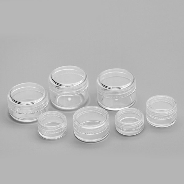 top popular 1 3 5 10 20 30 Gram Jars Cosmetic Sample Empty Container, 5ML Plastic, Round Pot, Screw Cap Lid, Small Tiny 5G Bottle, for Make Up, Eye Shadow, Nails, Powder, Paint, Jewelry 2021