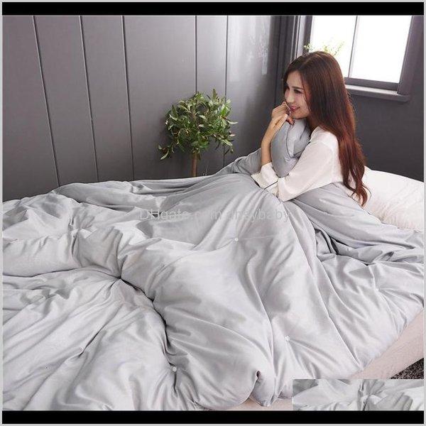 top popular Duvet Cover Set Bedding El Supplies Home & Garden Drop Delivery 2021 100Percent Cotton Winter Blankets Silk Coverlet Of The Kings Queen In Re 2021