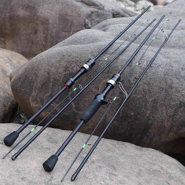 best selling Casting Spinning Fishing Rod 1.8m UltraLight Carbon Fiber Rod Pole 3Section with EVA Handle Baitcasting Fishing Rod