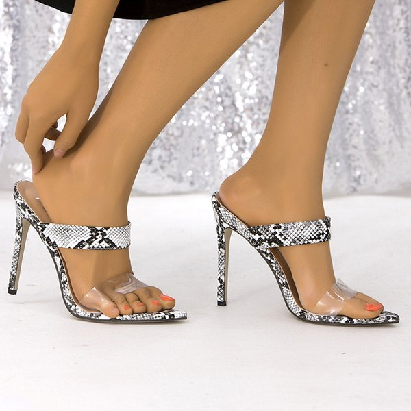 Transparent Heels Women Sandals Jelly Shoes PVC Ladies Slippers High Heels Women Summer Shoes Woman Heels Female Sandalias 2021