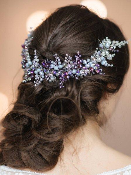 Wedding Accessories Headwear With Crystal Handmade Headband For Wedding Bridesmaids Hairband Brides Hairband