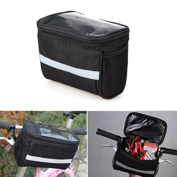 top popular Bicycle Handlebar Basket Bag Front Top Frame Handlebar Pouch Pannier Bag Outdoor Cycling Racing Tool Phone Bottle Pouch Cases 2021