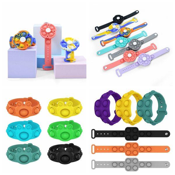 top popular Push Bubble Fidget Toys Sensory Ring Bracelets Puzzle Press Finger Bubbles Stress Bracelet Wristband Decompression Toy 2021