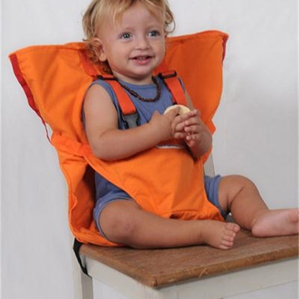 top popular Infants Dining High Chair Cover Seat Safety Belt Baby Portable Seat Infant Travel Foldable Washable Feeding High Chair 2021