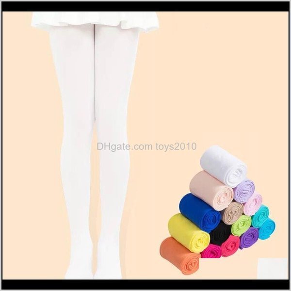 top popular Childrens Athletic Outdoor Apparel Baby Clothing Baby, & Maternity Drop Delivery 2021 Kids Ballet Dance For Stocking Children Veet Solid Whit 2021