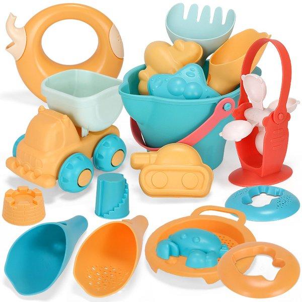 Childrens Beach Soft Rubber Set Toys Beach Play House Toys Outdoor Toys Sand Bucket beach Carts summer Sand Bucket