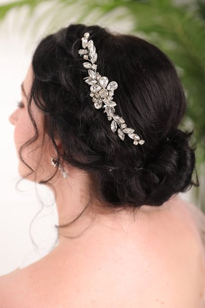 Vintage Rhinestones Silver Hair comb Banquet hat Wedding Bride Hair Accessories party for women