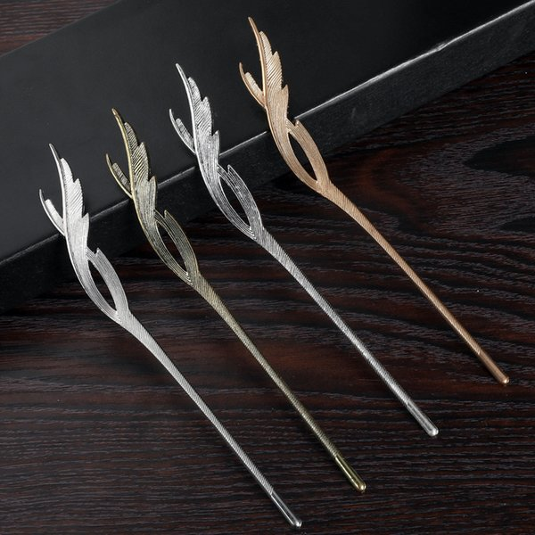 Chinese Style Hairpin Metal Handmade Ethnic Hair Pin Jewelry Accessories Vintage Women Top Quality Hair Sticks Pins For Girls