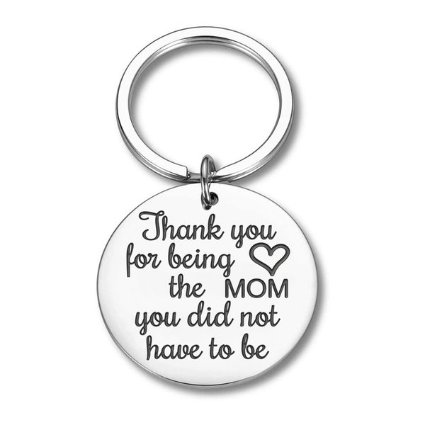 10Pieces/Lot Mothers Day Gifts Keychain Step Mom Mother Gifts for Mom Step Mother from Daughter Son To New Mom Wife Birthday Gifts Key Chai